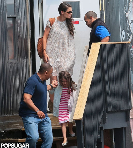 Katie Holmes and Suri Cruise Leave NYC in Their Chopper