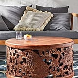 Handcarved Lotus Coffee Table