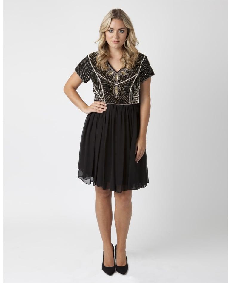 SimplyBe Embellished Skater Dress ($145)