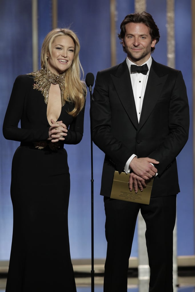 Kate Hudson and Bradley Cooper took the stage to present.