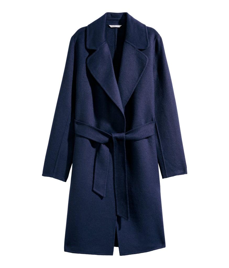 H&M Felted Wool-blend Coat