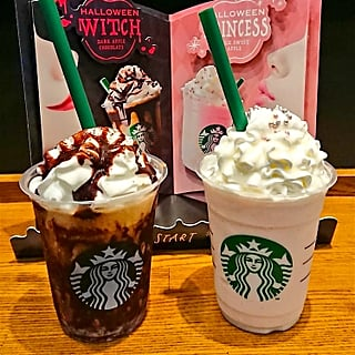 Starbucks Japan Halloween Witch and Princess Frappuccinos