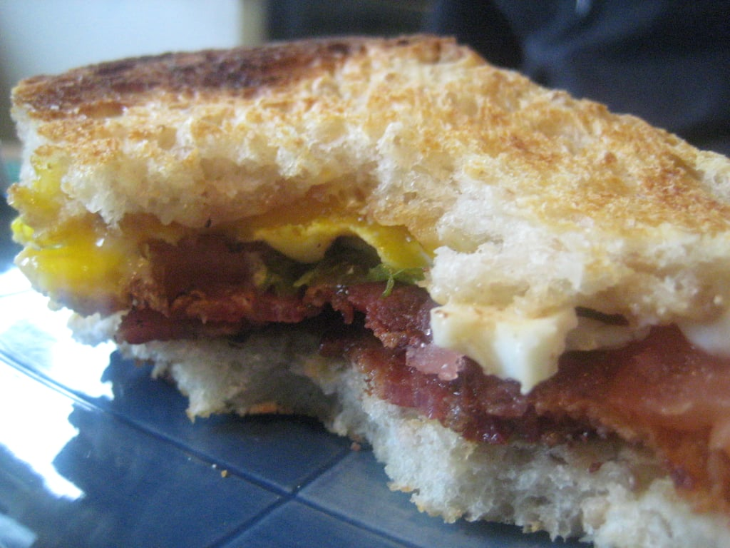 Cheesy BLT With Fried Egg