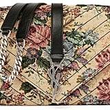 Saint Laurent Monogram Floral Jacquard Shoulder Bag, Beige/Multi ($1,850)