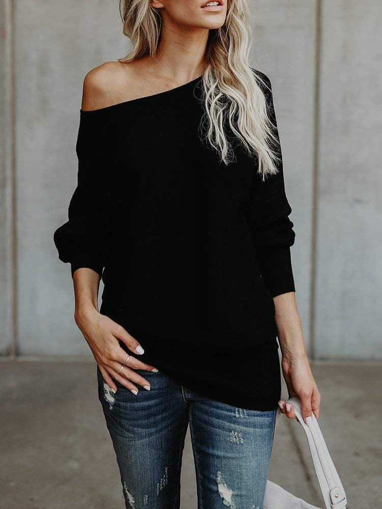 Chuanqi Off-the-Shoulder Pullover Sweater