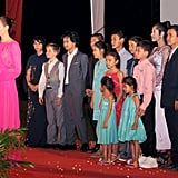 Angelina Jolie and Her Kids at Movie Premiere in Cambodia
