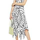 Topshop Spot Print Pleated Pinafore Dress