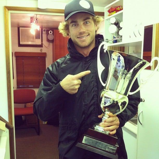 Hayden Quinn got his hands on the City 2 Surf trophy. Source: Instagram user hayden_quinn
