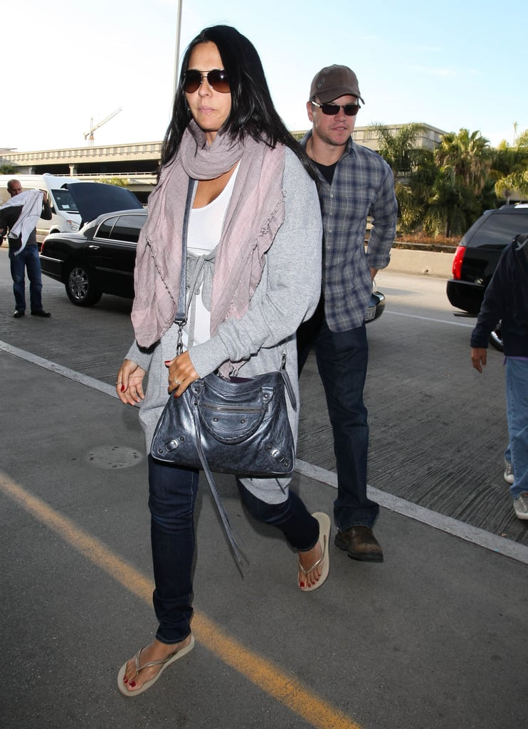 Matt Damon and Luciana Damon at LAX.