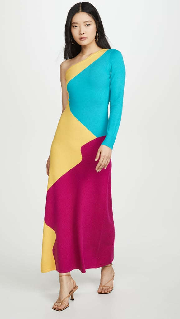 Victor Glemaud One-Shoulder Dress