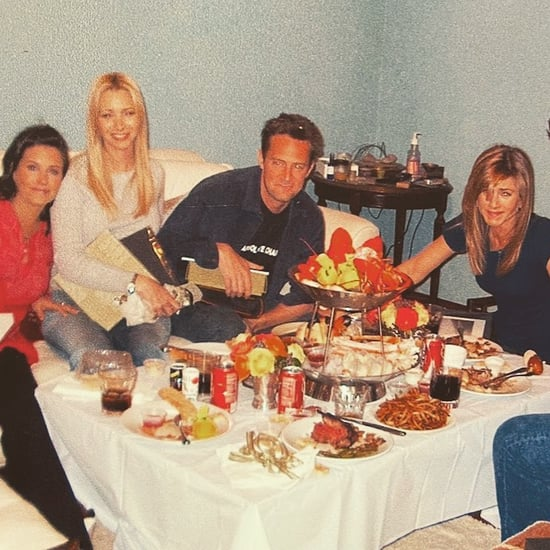 Courteney Cox Shares a Throwback Photo From Friends Set