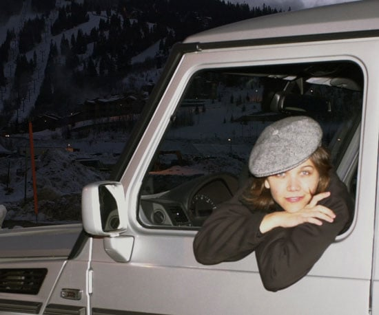 Maggie Gyllenhaal posed in a car during the festival in 2002.