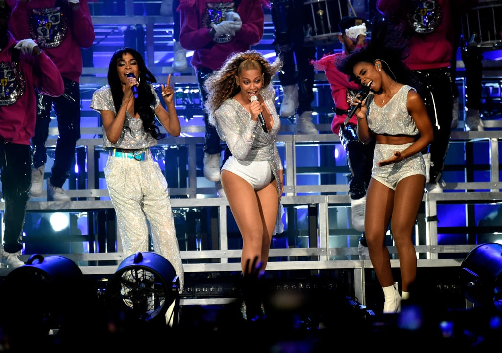 "Beyoncé's second Coachella performance on Saturday night was just as electrifying as the first. The Lemonade singer treated fans to a few surprises by donning all new custom Balmain costumes and bringing out surprise guests including her ""Mi Gente"" collaborator J Balvin and Destiny's Child once again. Queen Bey kept a few elements from her first performance as well, including the university-theme of her original set and the stunning step-inspired choreography.  The mom of three made history last week as the first black female headliner at Coachella and continued her reign in the desert this week. Keep reading to relive her second performance with 44 jaw-dropping photos that will keep you up all night."