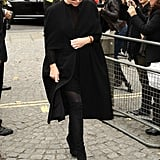 Stella McCartney coated herself in black.