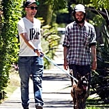 Robert Pattinson with friend Tom Sturridge.