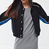UO Colorblock Cropped Bomber Jacket