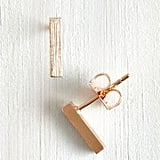 Fame Accessories Model of Minimalism Earrings in Rose Gold ($13)