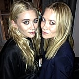 Ashley and Mary-Kate Olsen attended a dinner for The Row in London. Source: Instagram user netaporter