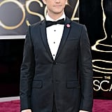 Joseph Gordon-Levitt on the red carpet at the Oscars 2013.