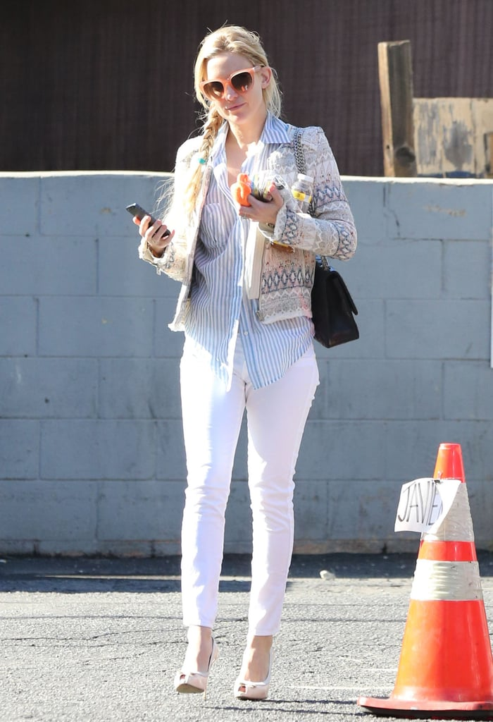 Kate Hudson wore sunglasses to stop by a nail salon in LA.