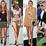 Kate Bosworth joins the club of celebrities who love scalloped shorts.