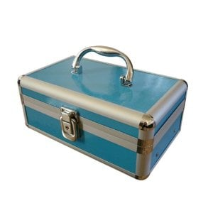 Cosmetic Makeup Beauty Case in Blue ($35)