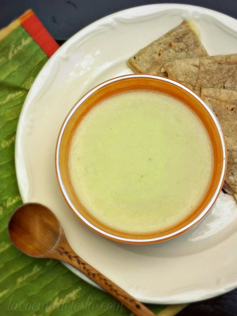 This crema de chayote, a squash-like vegetable, will envelop you with its rich flavor.