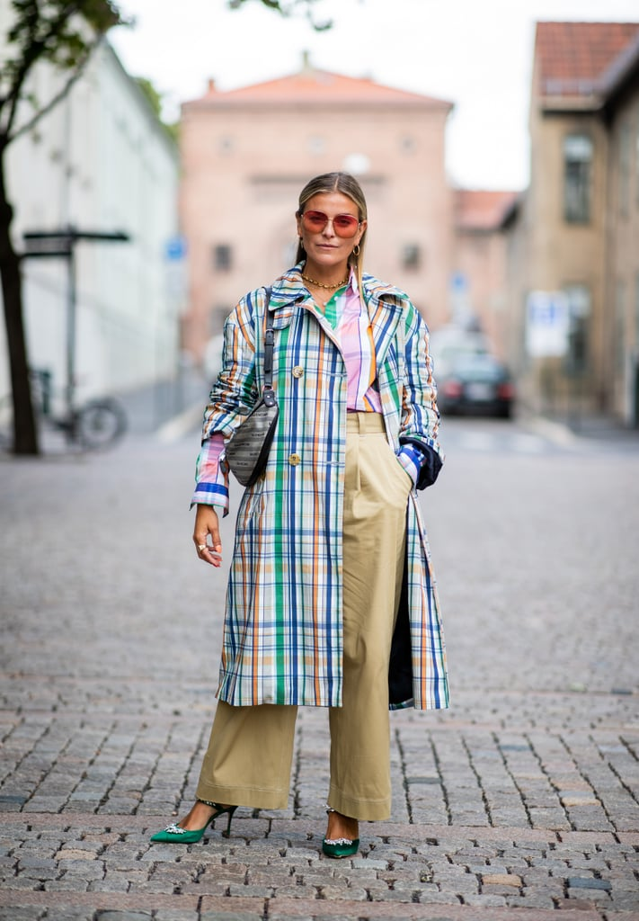 Toss on a plaid coat over everything for a statement-making outfit.