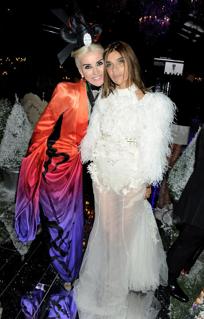 Daphne Guinness in Alexander McQueen, Carine Roitfeld in Givenchy couture