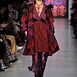 Bella Wore Jewel-Toned Separates on the Anna Sui Runway