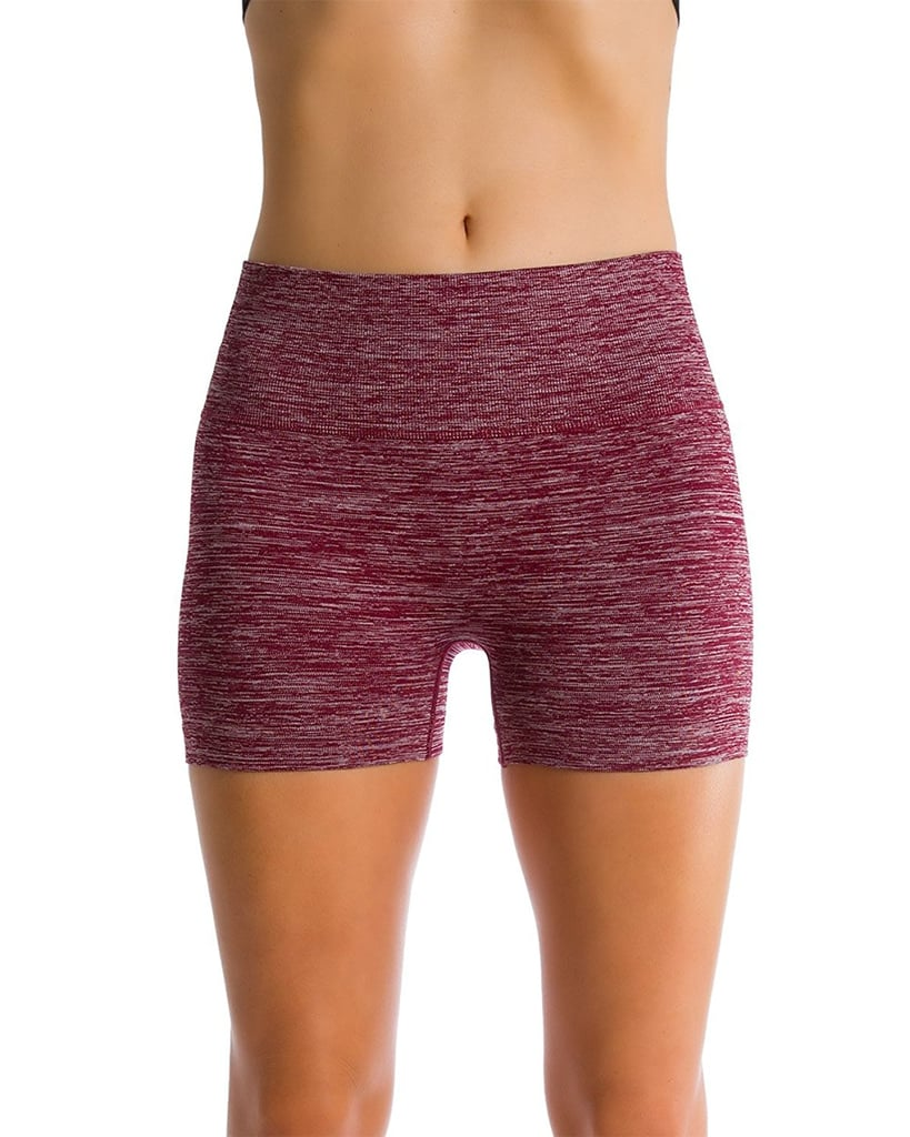 Homma Women's Seamless Compression Heathered Yoga Shorts