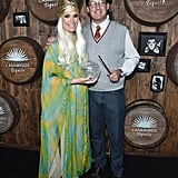 Molly Sims and Scott Stuber as a Fortune Teller and Harry Potter