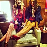 Bestie models Candice Lake and Amy Bracco hot-footed it to Salvatore Ferragamo's Fifth Avenue store. Source: Tumblr user Candice Lake