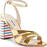 Miu Miu Rainbow Heel Sandals