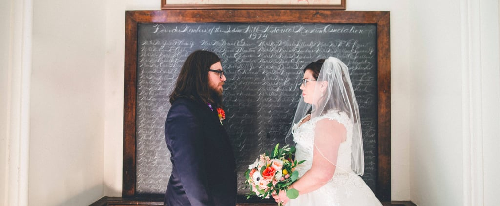 """These 2 Bibliophiles Said """"I Do"""" in a Little Red Schoolhouse, and We're Obsessed"""