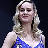 Brie Larson's Blue and Pink Dress Avengers Endgame Premiere