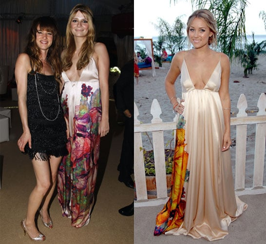 Lauren Conrad and Mischa Barton in Roberto Cavalli maxi dress