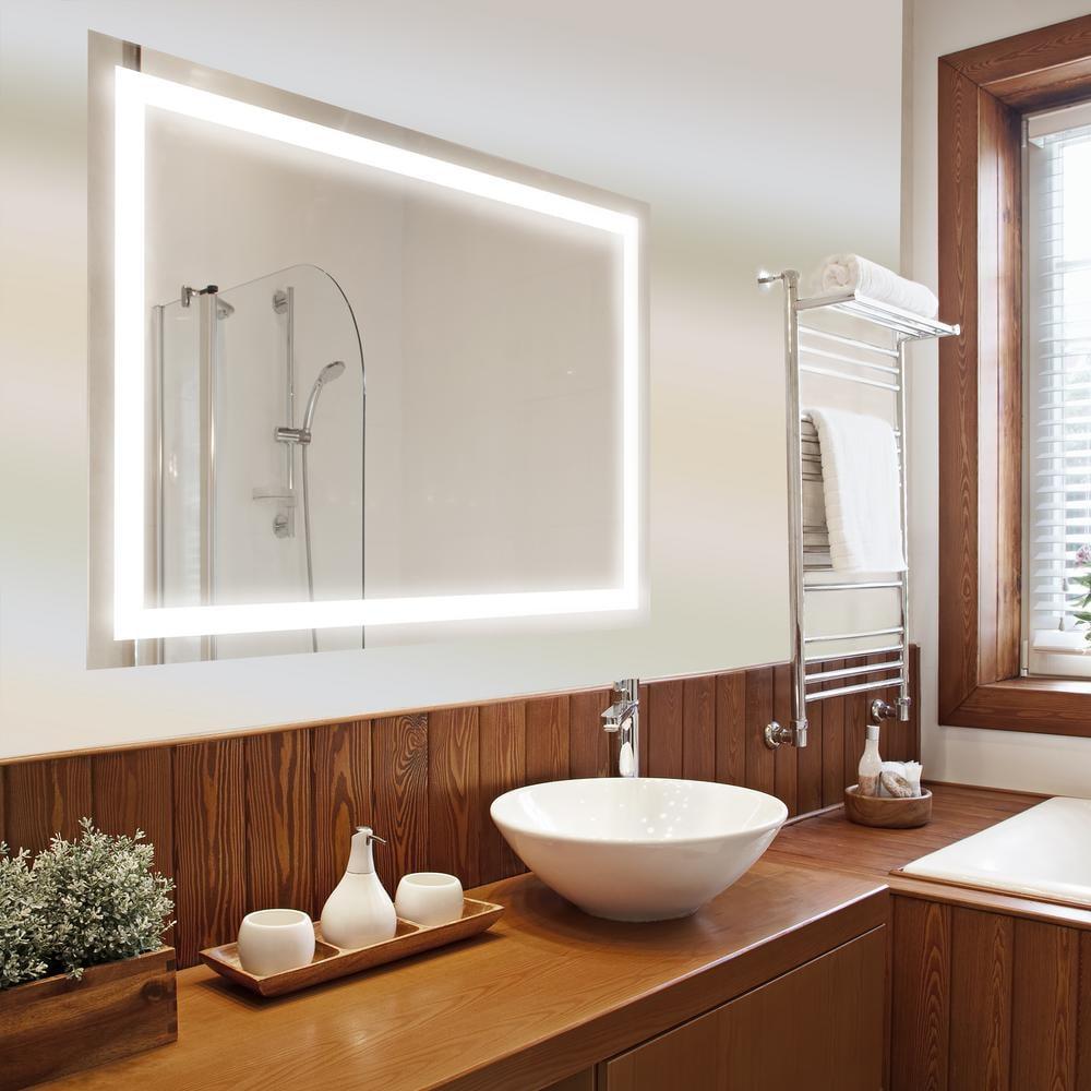 Dyconn edison led wall mounted backlit vanity bathroom mirror