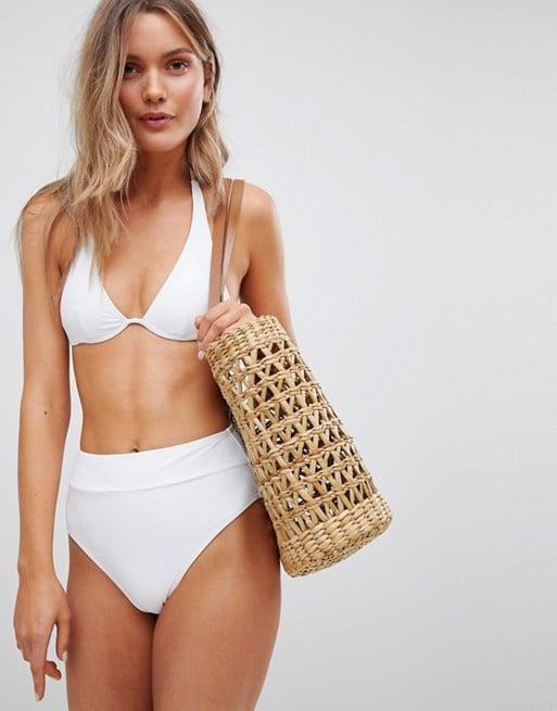 afabdd82eb52d South Beach Mix and Match White High Waist High Leg Bikini