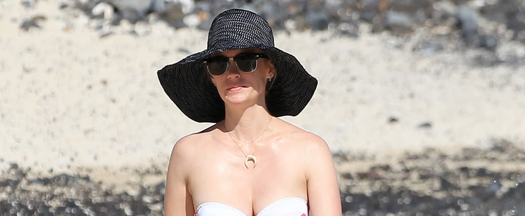 January Jones Hits the Beach in a Bikini Before Mad Men's Big Finale