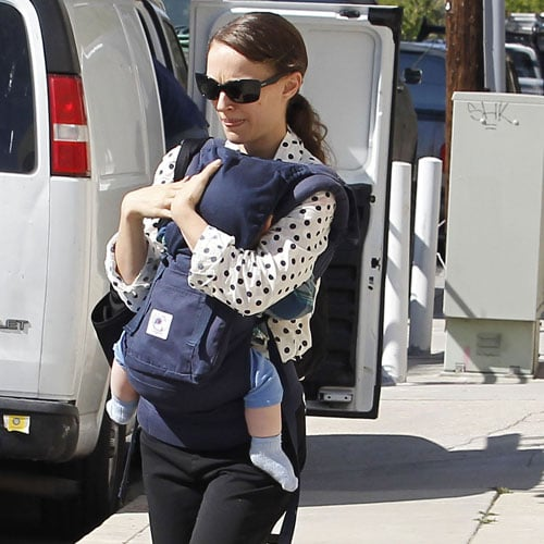 Natalie Portman Pictures in LA With Aleph and Benjamin