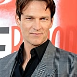 Stephen Moyer looked handsome in a grey suit at the premiere in Hollywood.