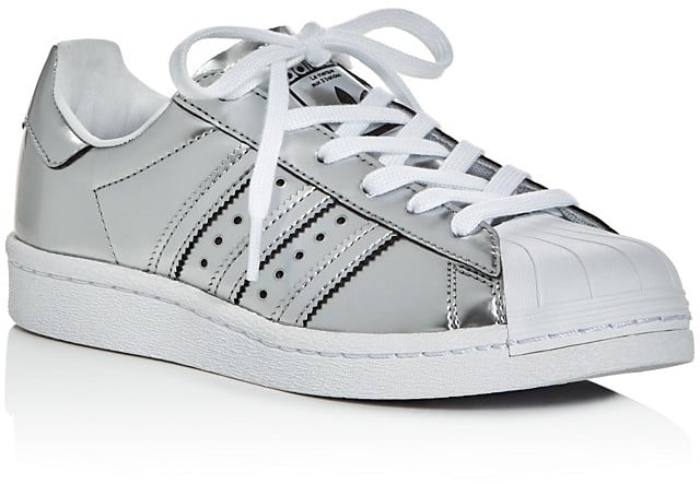 new style 9adcd 6871d Adidas Superstar Metallic Lace Up Sneakers