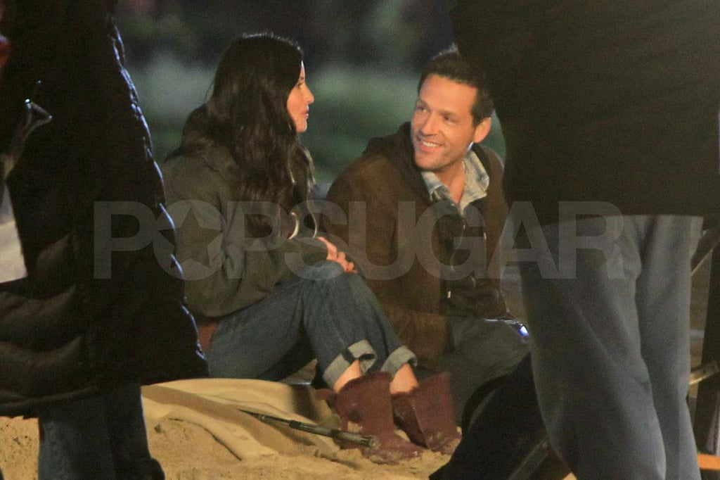 Courteney Cox Cozies Up to Josh Hopkins on the Cougar Town Set