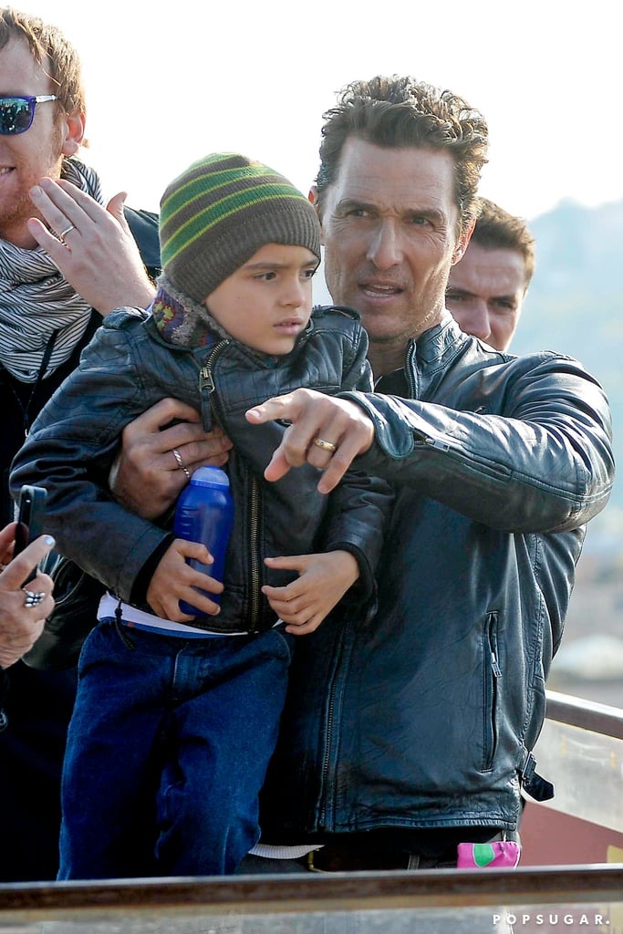 Matthew McConaughey in Rome with His Family   Pictures