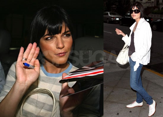 Photos of Selma Blair out Promoting Hellboy II: The Golden Army