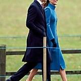 Kate Middleton's Blue Coat January 2019