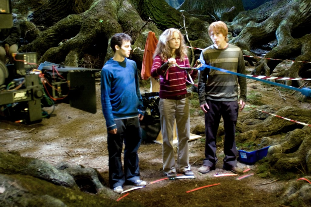 Wait, that's not Daniel Radcliffe, Rupert Grint, and Emma Watson. Nope, it's their body doubles!