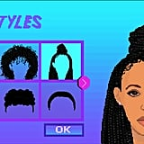 First, you can choose Aeva's hairstyle and skin tone.
