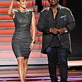 Jennifer Lopez and Randy Jackson were on set.